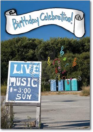 Live Music Humorous Birthday Paper Card Nobleworks