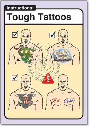 Tough Tattoos Adult Funny Birthday Card Nobleworks