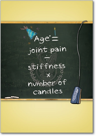 Age Math Adult Humor Birthday Greeting Card Nobleworks