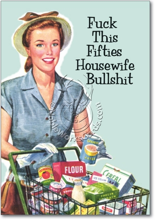 0931 50s housewife funny talk bubbles happy birthday card Game Show Live   Jeopardy meets Family Feud