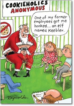 1275 adult christmas greeting card reynolds Hooked On Keebler Unique Inappropriate Humor Merry Christmas Card Nobleworks