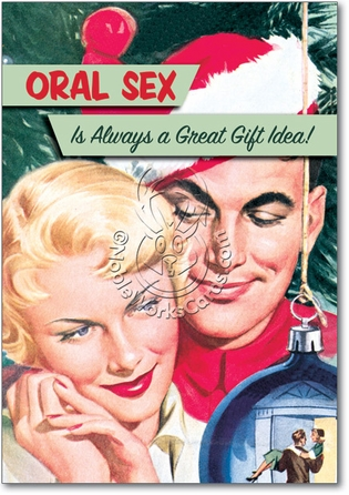 Oral Sex Unique Adult Humor Merry Christmas Greeting Card Nobleworks