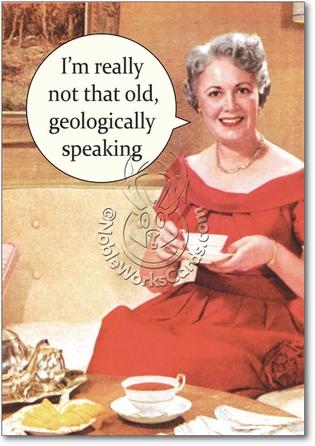 Geologically Speaking Naughty Humorous Birthday Paper C