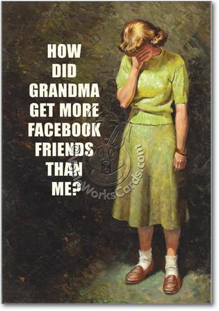 Naughty Funny Birthday Card Grandma Facebook
