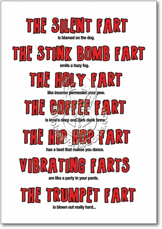 Birthday Fart Poem Unique Humorous Birthday Paper Card Nobleworks