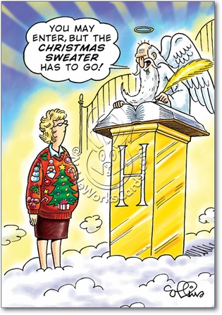Christmas Sweater Unique Inappropriate Humor Merry Christmas Card Nobleworks