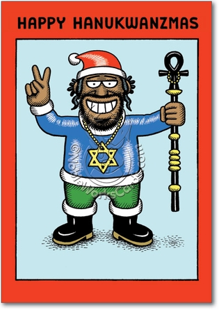 Hanukawanzamas Unique Inappropriate Humor Happy Holidays Card Nobleworks