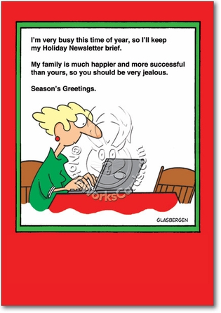 5867 funny happy family bitchy news letter humorous holiday card Funny Rude Poems For Adults