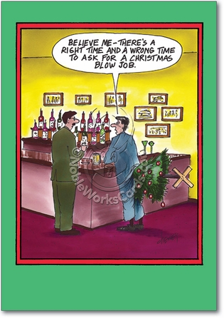 Christmas Blow Job Adult Humorous Merry Christmas Paper Card Nobleworks