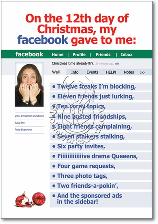 12 Days Of Facebook Funny Merry Christmas Card Nobleworks