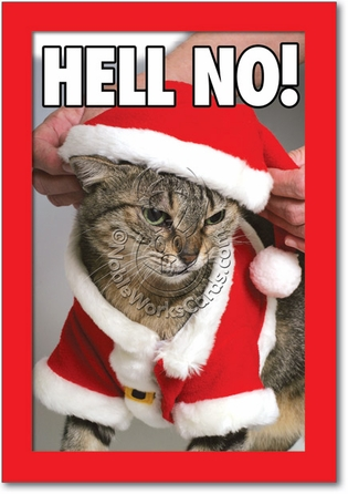 Hell No Humor Merry Christmas Greeting Card Nobleworks