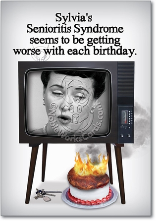 Senioritis Unique Adult Humor Birthday Greeting Card Nobleworks