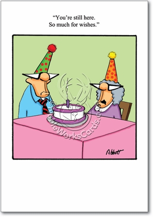 So Much For Wishes Funny Birthday Card Nobleworks